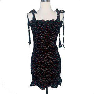 Free People Womens Dress M Bella Smocked Slip New